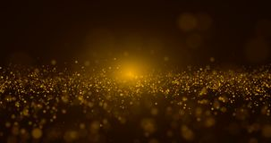 Abstract Gold Particle and gold bokeh background.  vector illustration