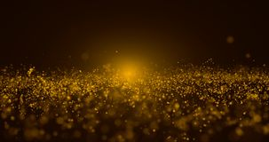 Abstract Gold Particle and gold bokeh background royalty free stock photos