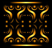 Abstract gold pattern. Design background. Beautiful vector illustration Stock Photos