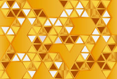 Abstract gold polygonl vector illustration
