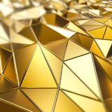 Abstract gold polygons 3D background Stock Photography