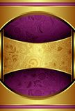 Abstract Gold and Purple Background Royalty Free Stock Image