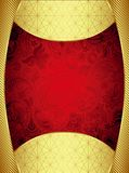 Abstract Gold and Red Frame Background Royalty Free Stock Photography