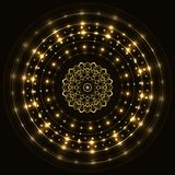 Abstract gold round frame with mandala Royalty Free Stock Photo