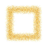 Abstract, gold, sand, dust, glitter, frame, square Royalty Free Stock Images