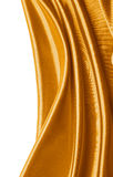 Abstract gold silk background Stock Photography