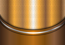 Abstract gold silver line curve hexagon mesh design modern luxury background texture vector. Abstract gold silver line curve hexagon mesh design modern luxury stock illustration