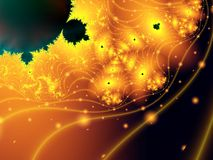 Abstract gold space scene Stock Photo