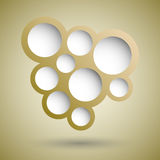 Abstract gold speech bubble background Stock Photos