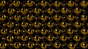 Abstract gold sphere. Digital illustration. 3d rendering Stock Photography