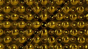 Abstract gold sphere. Digital illustration. 3d rendering Royalty Free Stock Photos