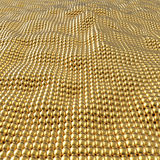 Abstract gold spheres wavy surface background. Royalty Free Stock Photo