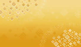 Abstract gold square background Royalty Free Stock Image