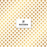 Abstract gold squares dimension pattern on white background. Vector illustration Royalty Free Stock Photo