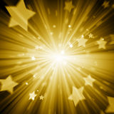 Abstract gold star background Stock Photography