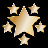 Abstract gold star on black background Royalty Free Stock Photo