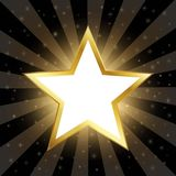 Abstract Gold Star On Dark Background Royalty Free Stock Photos
