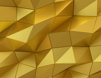 Abstract gold surface. Futuristic background Royalty Free Stock Photography