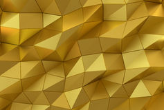 Abstract gold surface. Futuristic background Royalty Free Stock Photo