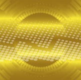 Abstract gold technical circle dots background Stock Photo