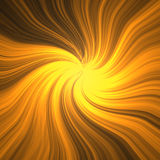 Abstract Gold Texture. Of twirl gold lines and centered glow in the middle Stock Photo