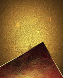 Abstract gold texture with red inserts. Element for design. Template for design. Royalty Free Stock Images