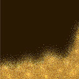 Abstract gold tinsel card Royalty Free Stock Photography