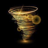 Abstract gold tornado Stock Photo
