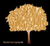 Abstract gold tree Stock Photos