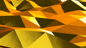 Abstract gold triangular crystalline background animation. Seamless loop.  stock video
