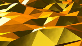Abstract gold triangular crystalline background animation. Seamless loop.  stock video footage