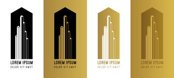 Abstract gold vector logo design elements. Abstract golden vecto Royalty Free Stock Photo