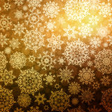 Abstract gold vector winter with snowflakes. EPS 8 Royalty Free Stock Photography