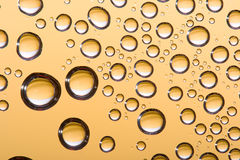 Abstract gold water drops Stock Photo