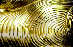Abstract  gold wave line pattern Stock Images