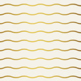 Abstract gold wave pattern. Monochrome white wallpaper. Stock Photos