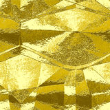 Abstract gold wavy pattern resembling brushed metal foil. Gold, brown and yellow metal scratched folded texture stock illustration