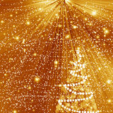Abstract gold winter Christmas background Royalty Free Stock Images