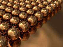 Abstract golden background. Abstract 3d illustration of golden background with spheres Royalty Free Stock Photography