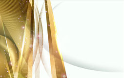 Abstract golden background. Abstract bright vector golden lines background Royalty Free Stock Photography