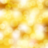 Abstract golden background. With bokeh Stock Images