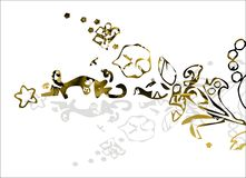 Abstract Golden Background. An illustrated background with various golden elements Stock Photography
