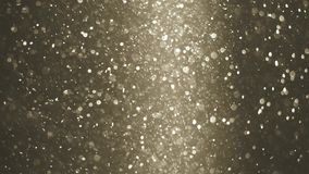 Abstract golden background with beautiful shine flickering particles. Underwater bubbles in flow with bokeh. 3840x2160. Abstract background with beautiful stock video footage