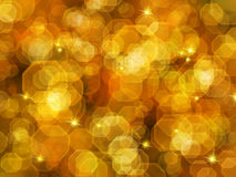Abstract golden  background bokeh. Royalty Free Stock Images