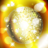 Abstract golden background with disco ball. Vector eps10 illustration Stock Illustration