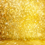 Abstract golden background with effect bokeh Royalty Free Stock Images