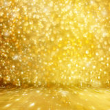 Abstract golden background with effect bokeh Stock Photo