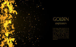 Abstract golden background with explosion Royalty Free Stock Photo