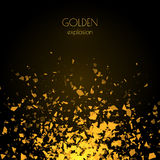 Abstract golden background with explosion Royalty Free Stock Photos