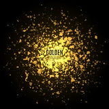 Abstract golden background with explosion Royalty Free Stock Images